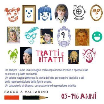 Mercoledì 21 agosto ore 20,30 Laboratorio di disegno TRATTO E RITRATTO con gli illustratori Elisa Vallarino & Mauro Sacco