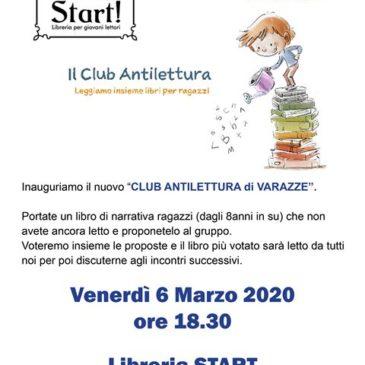 Venerdì 6 marzo 20230 ore 18,30: Il Club Antilettura